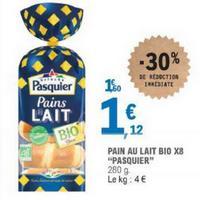 Pain au Lait Bio Pasquier x8 chez Leclerc (14/05 – 25/05)