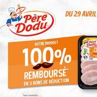 Offre de Remboursement Père Dodu : Tranches de Dinde ou Poulet Emincés de Poulet 100% Remboursé en 3 Bons
