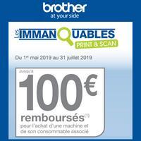 Offre de Remboursement Brother : Jusqu'à 100€ Remboursés sur Machine et son Consommable