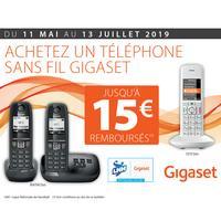 Offre de Remboursement Gigaset : Jusqu'à 15€ Remboursés sur Téléphone
