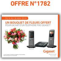 Bon Plan Gigaset : Un Bouquet de Fleurs Offert pour l'achat d'un Téléphone
