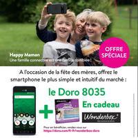 Bon Plan Doro : Mini Coffret Wonderbox Happy Maman Offert pour l'achat d'un Doro 8035 chez Boulanger