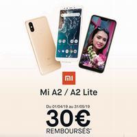 Offre de Remboursement Xiaomi : 30€ Remboursés sur Smartphone Mi A2 et Mi A2 LIte