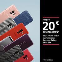 Offre de Remboursement Samsung : Jusqu'à 20€ Remboursé sur Etuis et Coques Galaxy S9