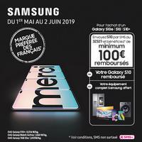 Offre de Remboursement Samsung : Jusqu'à 100% Remboursé sur Galaxy S10