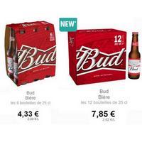Bière Bud chez Intermarché (01/05 – 31/05)