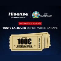 Offre de Remboursement Hisense : Jusqu'à 100€ Remboursés sur TV 4K UHD