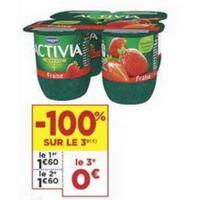 Yaourt aux fruits Activia chez Casino (21/05 – 02/06)