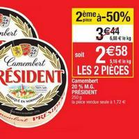 Camembert Président chez Cora (21/05 – 27/05)