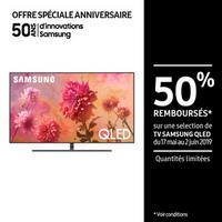 Offre de Remboursement Samsung : Jusqu'à 50% Remboursés sur Téléviseur QLED