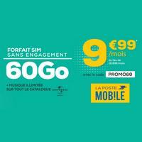 La Poste : Forfait Mobile à 9,99€ au lieu de 18,99€