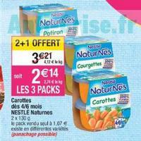 Naturnes Légumes Nestlé Bébé chez Cora (21/05 – 27/05)