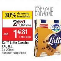 Boisson Caffé Latte Lactel chez Cora (21/05 – 27/05)