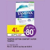 Tampons Cotton Tampax chez Intermarché (14/05 – 26/05)