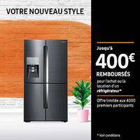 Offre de Remboursement Samsung : Jusqu'à 400€ Remboursés sur Réfrigérateur