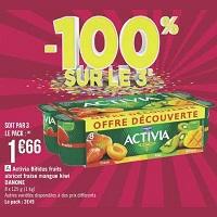 Yaourts fruits Activia chez Géant Casino (14/05 – 26/05)