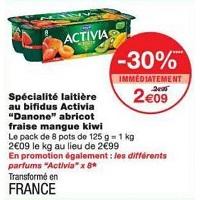 Yaourt aux fruits Activia chez Monoprix (22/05 – 03/06)