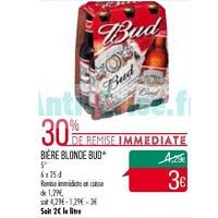 Pack de Bière Bud chez Match (14/05 – 26/05)