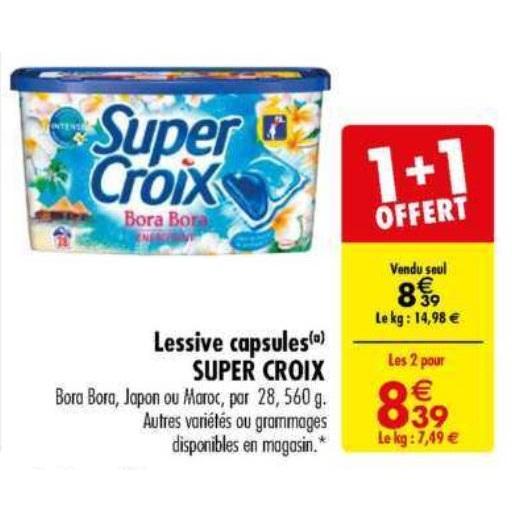 Lessive en Capsules Super Croix chez Carrefour (14/05 – 27/05)