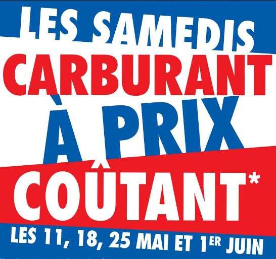 15ac8b7bb7d6a Carrefour   Carburants à prix coutants les 11 18 25 mai et 1er juin