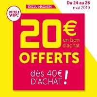 Gifi : 20€ Offerts en Bons d'Achat pour 40€ d'Achats CLIENTS VIP