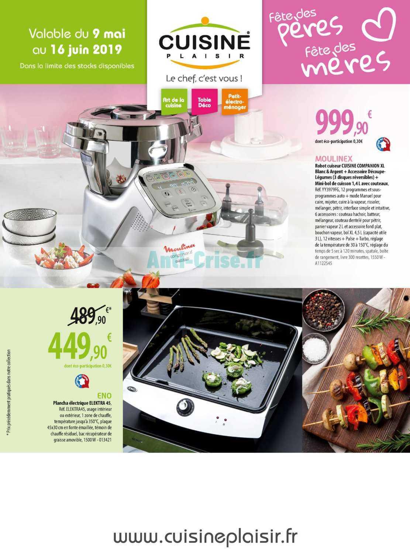 Catalogue cuisine plaisir du 09 mai au 16 juin 2019 catalogues promos bons plans economisez for Cuisine plaisir