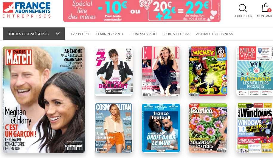 Kiosque France Abonnement : 22€ de remise pour 40 d'achats