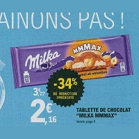Tablette Mmmax Nussini Milka chez Leclerc (21/05 – 25/05)