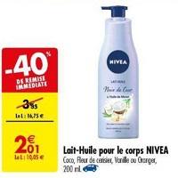 Lait-Huile Corps Nivea chez Carrefour (21/05 – 27/05)