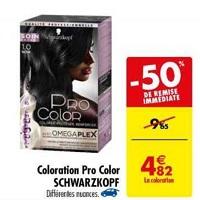 Coloration Pro Color Schwarzkopf chez Carrefour (21/05 – 27/05)