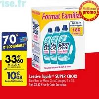 Lessive Liquide Super Croix chez Carrefour (14/05 – 27/05)